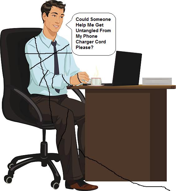man at a desk